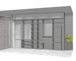 Wnętrze szafy szerokość 350 - 400 cm  3540w1x5