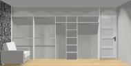 Wnętrze szafy szerokość 400 - 450 cm  4045w7x4