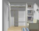 Wnętrze szafy szerokość 140 - 160 cm 1416w10x2
