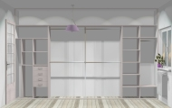 Wnętrze szafy szerokość 350 - 400 cm  3540w26x4