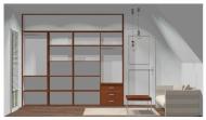 Wnętrze szafy szerokość 271 - 310 cm  2731w44x4