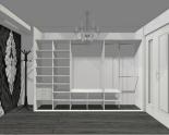 Wnętrze szafy szerokość 310 - 350 cm  3135w17x3