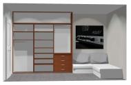Wnętrze szafy szerokość 241 - 270 cm 2427w25x3
