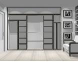 Wnętrze szafy szerokość 310 - 350 cm  3135w24x3