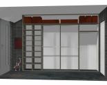 Wnętrze szafy szerokość 310 - 350 cm  3135w48x4