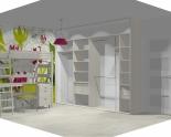 Wnętrze szafy szerokość 310 - 350 cm  3135w49x4