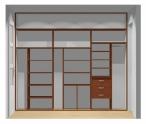 Wnętrze szafy szerokość 271 - 310 cm  2731w27x3
