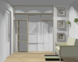 Wnętrze szafy szerokość 181 - 210 cm 1821w33x3