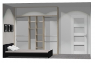 Wnętrze szafy szerokość 211 - 240 cm 2124w27x3