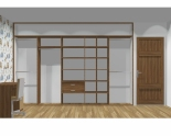 Wnętrze szafy szerokość 350 - 400 cm  3540w13x5