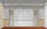 Wnętrze szafy szerokość 350 - 400 cm  3540w24x4