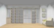 Wnętrze szafy szerokość 400 - 450 cm  4045w4x4
