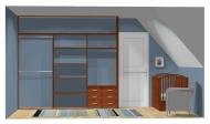 Wnętrze szafy szerokość 271 - 310 cm  2731w18x3