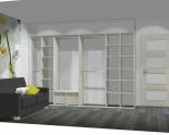 Wnętrze szafy szerokość 310 - 350 cm  3135w38x4