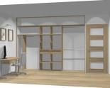 Wnętrze szafy szerokość 310 - 350 cm  3135w23x3