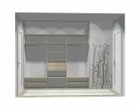 Wnętrze szafy szerokość 241 - 270 cm 2427w4x3