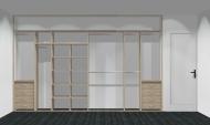 Wnętrze szafy szerokość 350 - 400 cm  3540w23x4