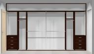 Wnętrze szafy szerokość 400 - 450 cm  4045w6x4