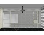 Wnętrze szafy szerokość 450 - 500 cm  4550w1x5