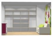 Wnętrze szafy szerokość 271 - 310 cm  2731w41x4