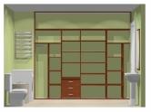 Wnętrze szafy szerokość 271 - 310 cm  2731w36x4