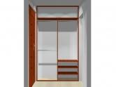 Wnętrze szafy szerokość 140 - 160 cm 1416w1x2