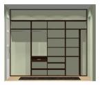 Wnętrze szafy szerokość 271 - 310 cm  2731w33x4