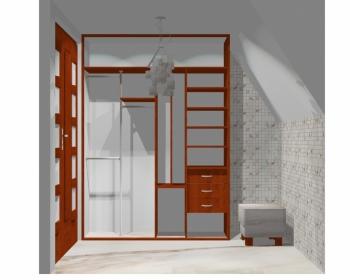 Wnętrze szafy szerokość 161 - 180 cm 1618w21x2