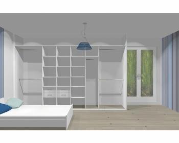 Wnętrze szafy szerokość 350 - 400 cm  3540w13x4