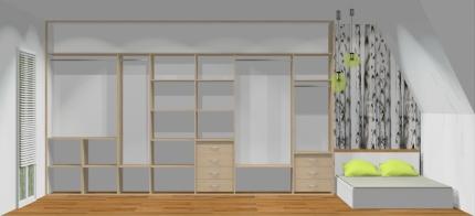 Wnętrze szafy szerokość 400 - 450 cm  4045w18x4