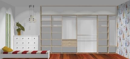 Wnętrze szafy szerokość 400 - 450 cm  4045w21x4