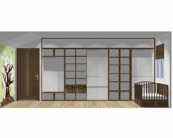 Wnętrze szafy szerokość 450 - 500 cm  4550w19x5
