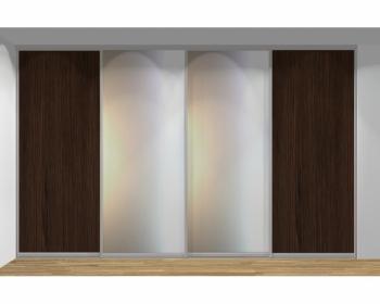 Drzwi przesuwne szerokość 351 - 400 cm 3540d4x4
