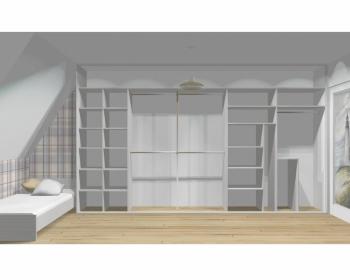 Wnętrze szafy szerokość 400 - 450 cm  4045w7x5