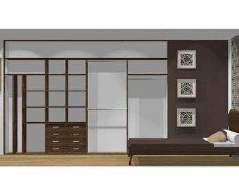 Wnętrze szafy szerokość 350 - 400 cm  3540w18x4