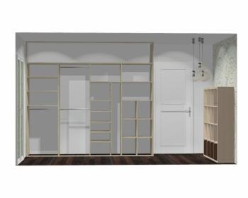 Wnętrze szafy szerokość 271 - 310 cm  2731w46x4