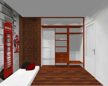 Wnętrze szafy szerokość 181 - 210 cm 1821w28x3