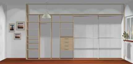 Wnętrze szafy szerokość 400 - 450 cm  4045w10x4