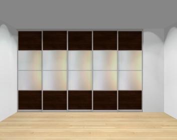 Drzwi przesuwne szerokość 351 - 400 cm 3540d17x5