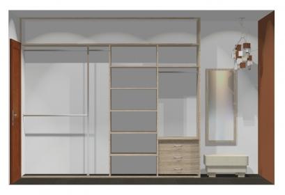 Wnętrze szafy szerokość 271 - 310 cm  2731w37x4