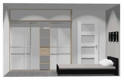 Wnętrze szafy szerokość 241 - 270 cm 2427w26x3