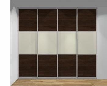 Drzwi przesuwne szerokość 271 - 310 cm 2731d9x4