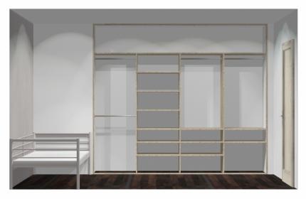 Wnętrze szafy szerokość 271 - 310 cm  2731w38x4