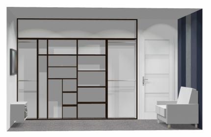 Wnętrze szafy szerokość 271 - 310 cm  2731w35x4