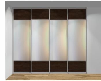 Drzwi przesuwne szerokość 271 - 310 cm 2731d6x4