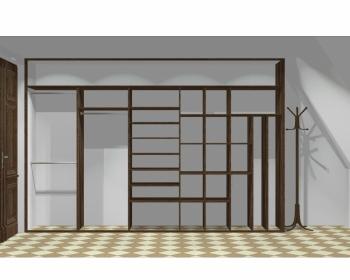 Wnętrze szafy szerokość 350 - 400 cm  3540w7x5