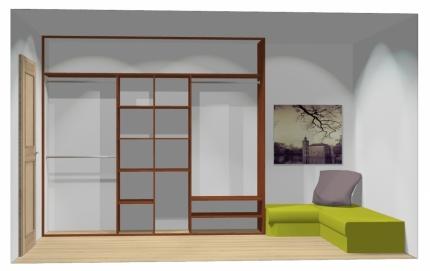 Wnętrze szafy szerokość 271 - 310 cm  2731w8x3