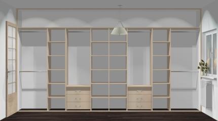 Wnętrze szafy szerokość 400 - 450 cm  4045w14x4