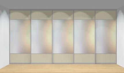 Drzwi przesuwne szerokość 451 - 500 cm 4550d15x5