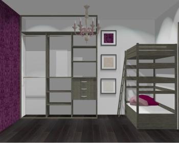 Wnętrze szafy szerokość 181 - 210 cm 1821w37x3